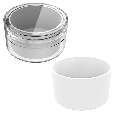 5ML Concentrate container with silicone. 5ML concentrate jars with labels by Dragon Chewer