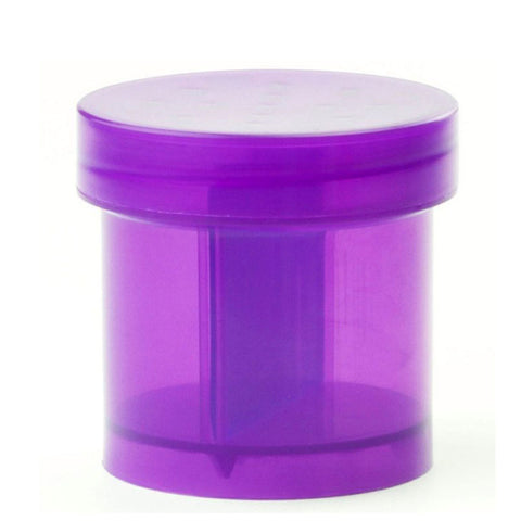 GrindTainer - Purple Storage Container with Grinder by Dragon Chewer.