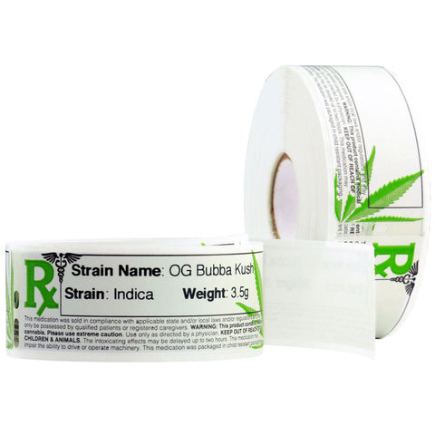 Free Printable strain labels by Dragon Chewer. Custom thermal dispensary strain labels for jars.