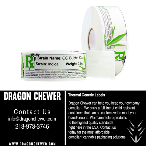 DYMO thermal free printable cannabis cbd label template by dragon chewer