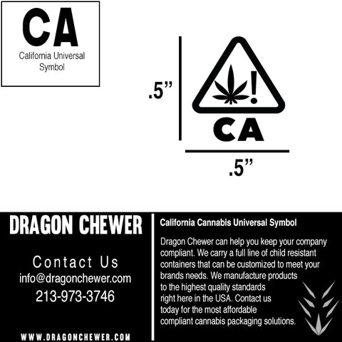 California not fake dispensary labels CA compliant compliance wholesale bulk Free printable strain labels universal symbol guide