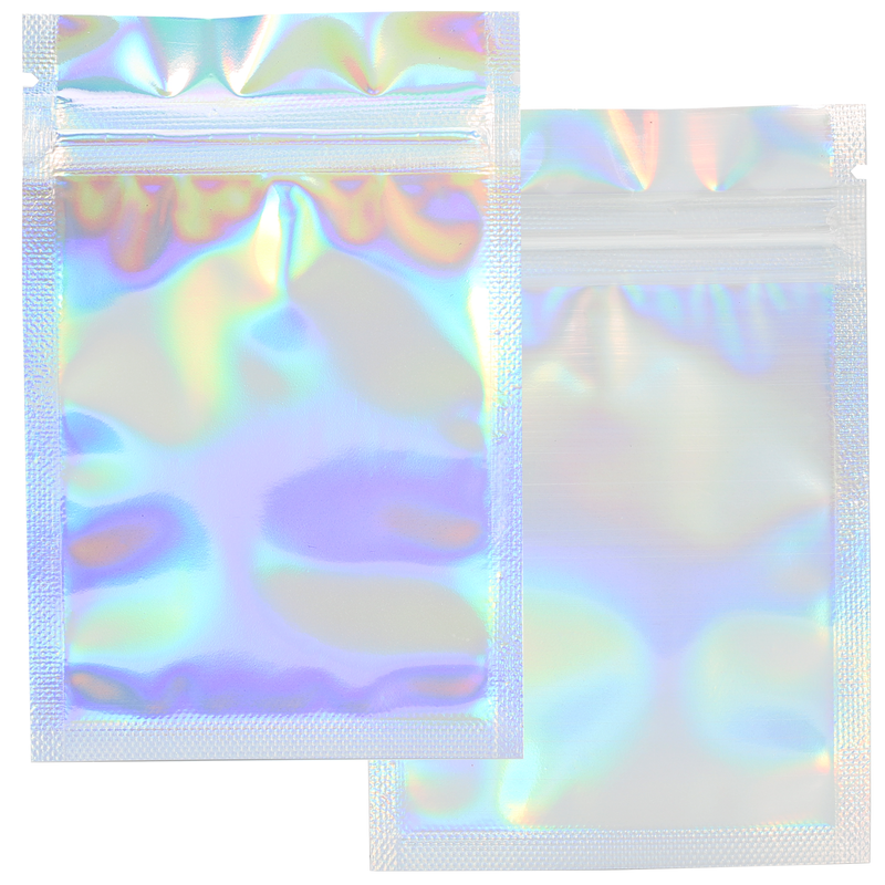 1 Gram Gloss Holographic & Clear Mylar Bags - (1000 qty.)