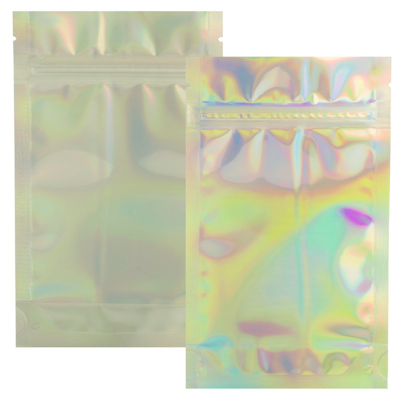 1/4 Ounce Gloss Holographic & Clear Mylar Bags - (50 qty.)