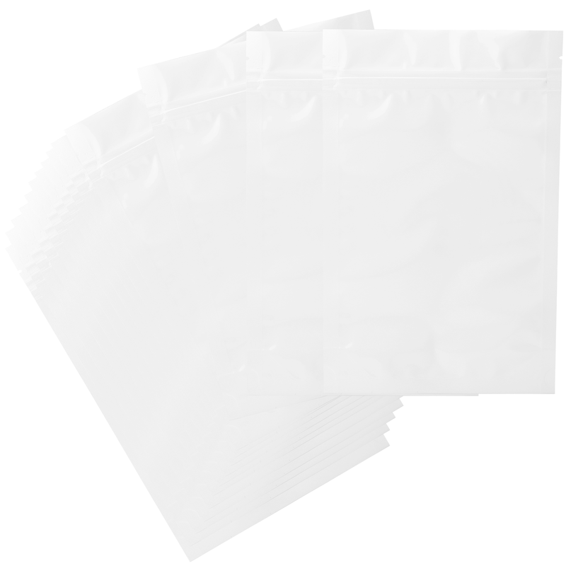 1 Ounce Gloss White & Gloss White Mylar Bags - (50 qty.)
