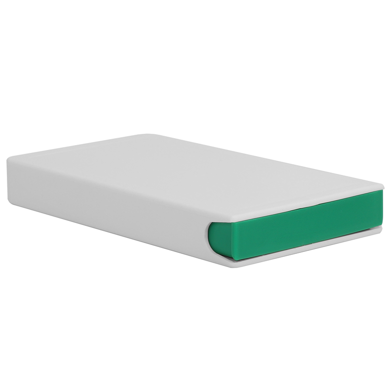 Press N Pull CR Box Container - The 85 Slim - White & Green. 85mm (100 qty.)