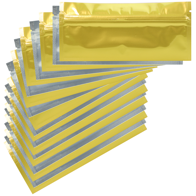 Pre Roll Gloss Gold & Clear Mylar Bags - (1000 qty.)
