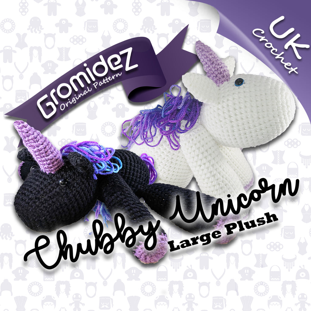 Chubby Unicorn Large Original Design - PATTERN ONLY - UK crochet terms