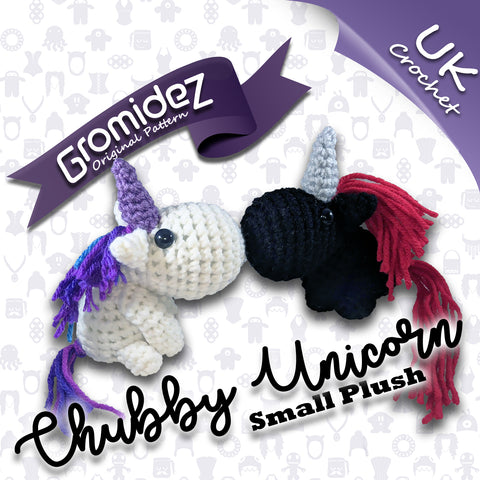 Chubby Unicorn Small Original Design - PATTERN ONLY - UK crochet terms