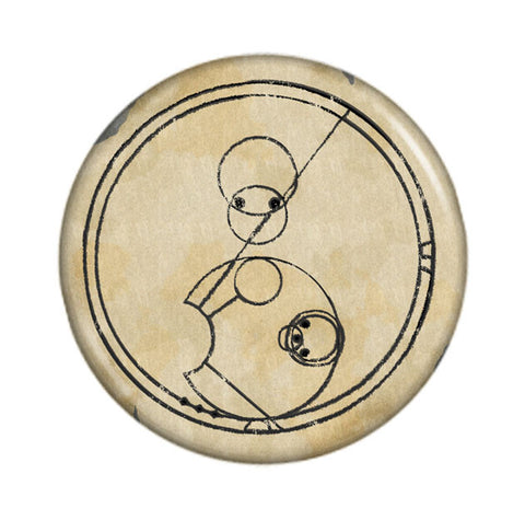 "Doctor Who ""Allons-y!"" in Gallifreyan on Parchment"