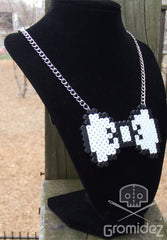 Pixel Bow Tie Necklace