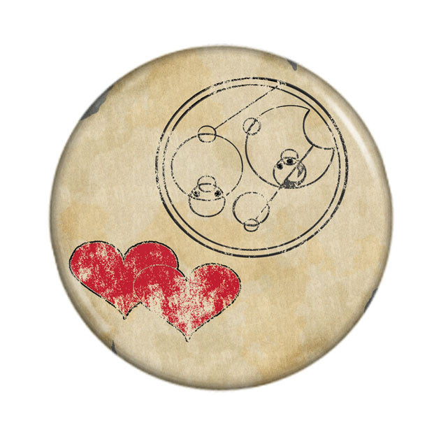 "Doctor Who ""I Love You"" in Gallifreyan on Parchment"