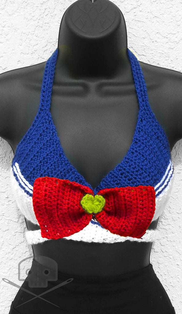 Sailor Moon Sailor Scout Crochet Wrap Adjustable Top - Machine Washable