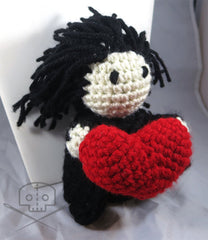 Valentine Harry Potter Inspired Snape Heart Plush