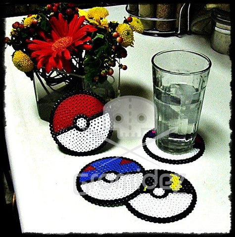 Pokeball Coasters