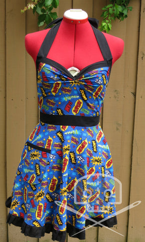 Comic Words Vintage-Style Apron