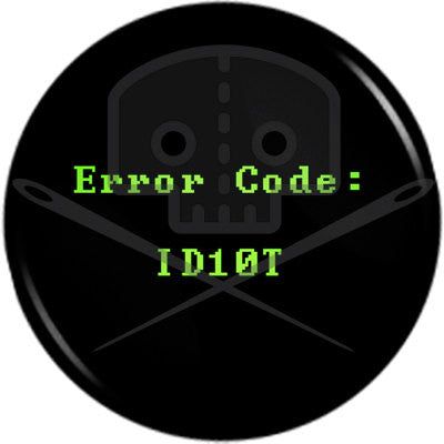 Computer Geek ERROR CODE button