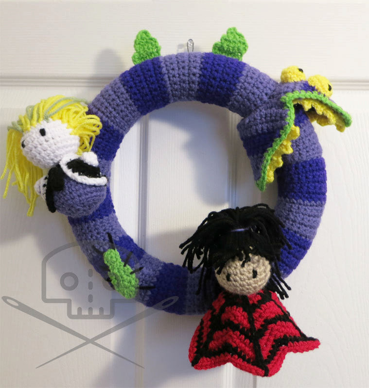 Beetlejuice Character Wreath