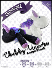 Chubby Unicorn Large Original Design - PATTERN ONLY - US crochet terms
