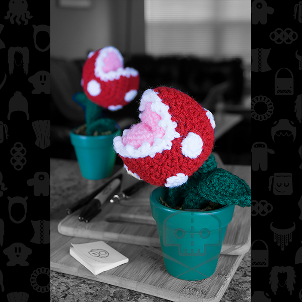 Piranha Plant In Clay Pot