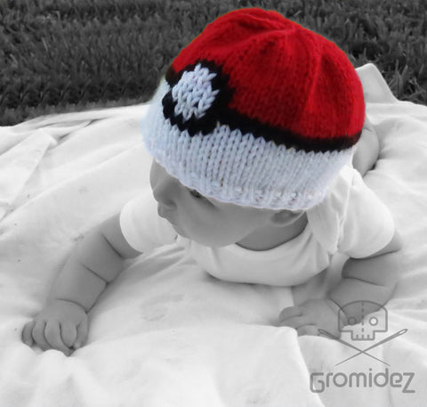 Pokemon Pokeball Baby/Toddler Hat