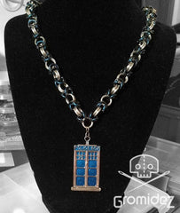 Doctor Who TARDIS Chainmaille Necklace