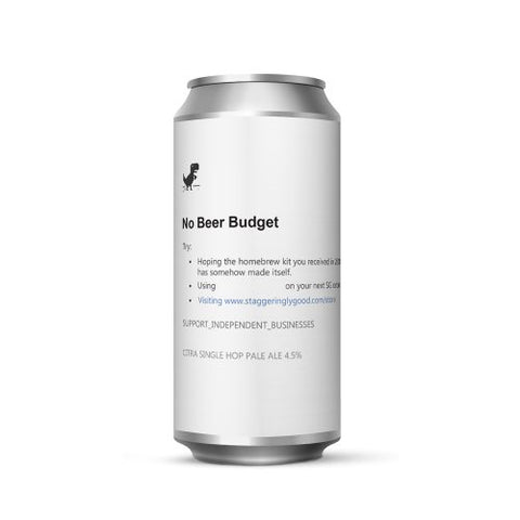 No Beer Budget 4.5% pale