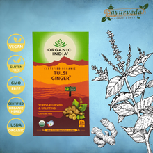 Load image into Gallery viewer, Organic India Tulsi Ginger Vegan | Gluten Free | GMO Free | Tested Heavy Metal | Organic Herbs
