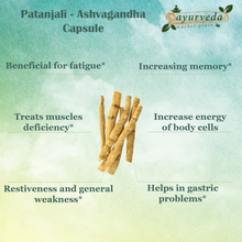 Load image into Gallery viewer, Patanjali - Ashvagandha benefits