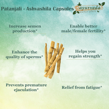 Load image into Gallery viewer, Patanjali - Ashvashila Capsules benefits