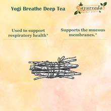 Load image into Gallery viewer, Yogi Breathe Deep Tea benefits