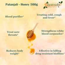 Load image into Gallery viewer, Patanjali - Honey 500g benefits