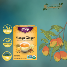Load image into Gallery viewer, Yogi Mango Ginger Tea Vegan | Gluten Free | GMO Free