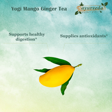 Load image into Gallery viewer, Yogi Mango Ginger Tea - benefits