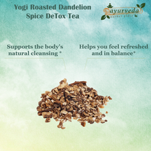 Load image into Gallery viewer, Yogi Roasted Dandelion Spice DeTox Tea benefits
