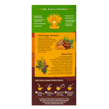 Load image into Gallery viewer, Organic India Tulsi Ginger Turmeric directions