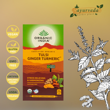 Load image into Gallery viewer, Organic India Tulsi Ginger Turmeric  Vegan | Gluten Free | GMO Free | Tested Heavy Metal | Organic Herbs