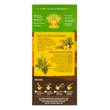 Load image into Gallery viewer, Organic India Tulsi Green Tea Lemon Ginger directions
