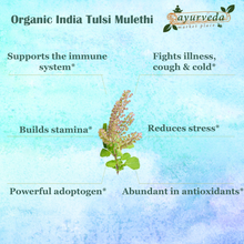 Load image into Gallery viewer, Organic India Tulsi Mulethi benefits