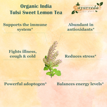 Load image into Gallery viewer, Organic India Tulsi Sweet Lemon Tea benefits