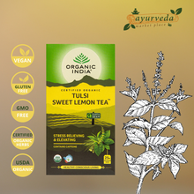 Load image into Gallery viewer, Organic India Tulsi Sweet Lemon Tea Vegan | Gluten Free | GMO Free | Tested Heavy Metal | Organic Herbs