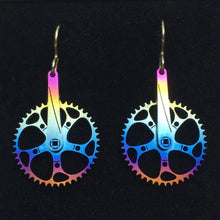 Load image into Gallery viewer, Titanium Boone Twist! Cranks (with Chainring) Earrings