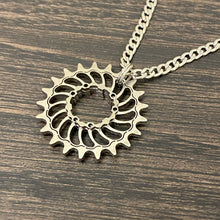 Load image into Gallery viewer, Boone Titanium SS Cog Pendant