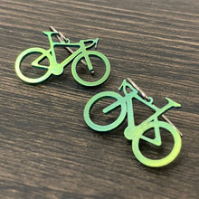 Load image into Gallery viewer, Titanium Road Bike Earrings
