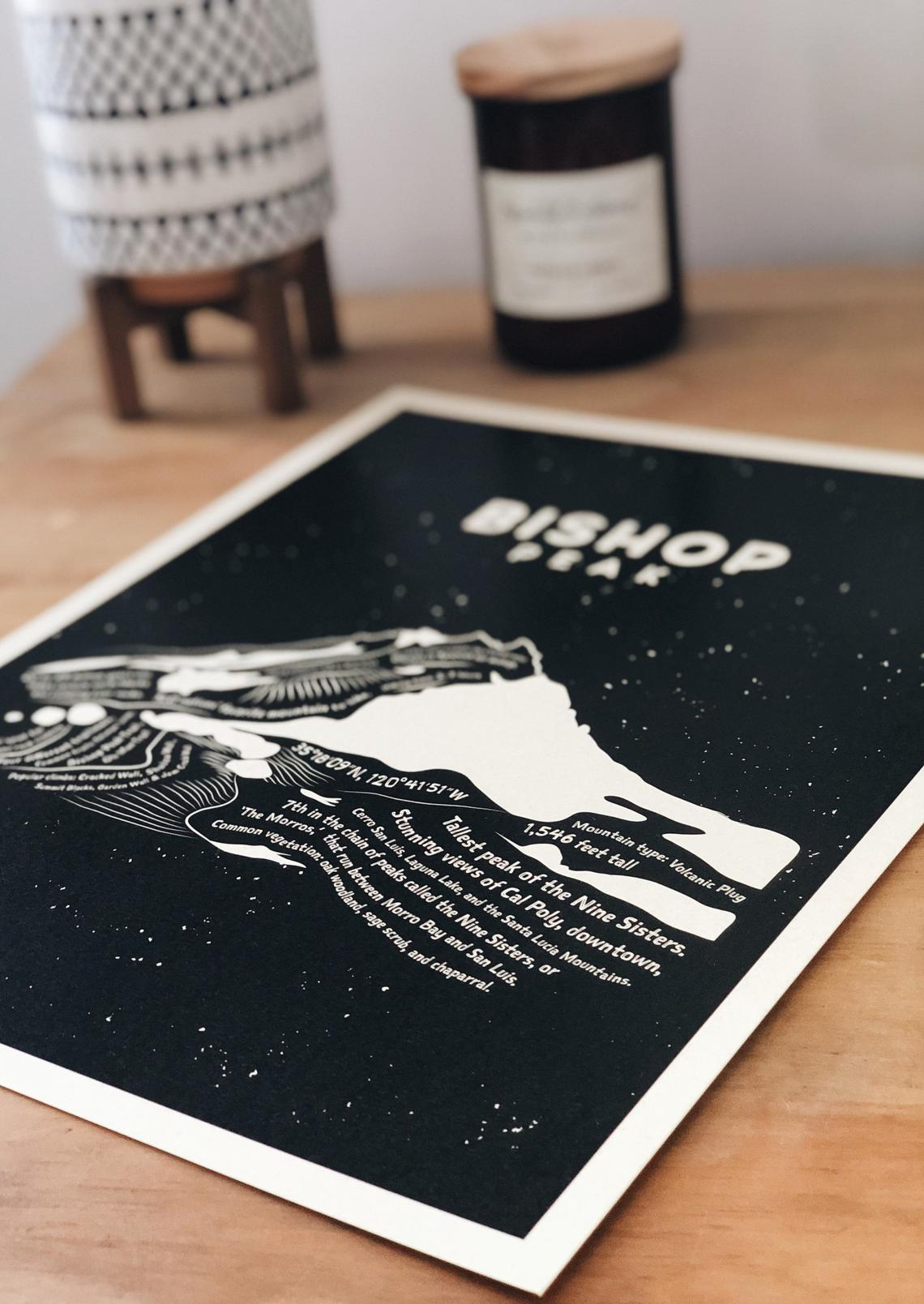 Bishop Peak Art Print