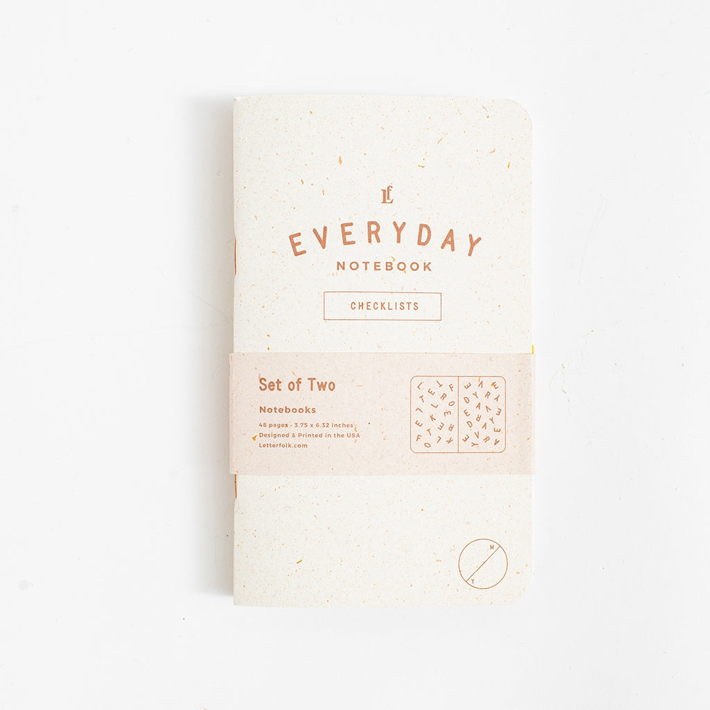 Cover of Everyday Notebook with Checklists.