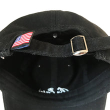 Load image into Gallery viewer, Black Embroidered Hat