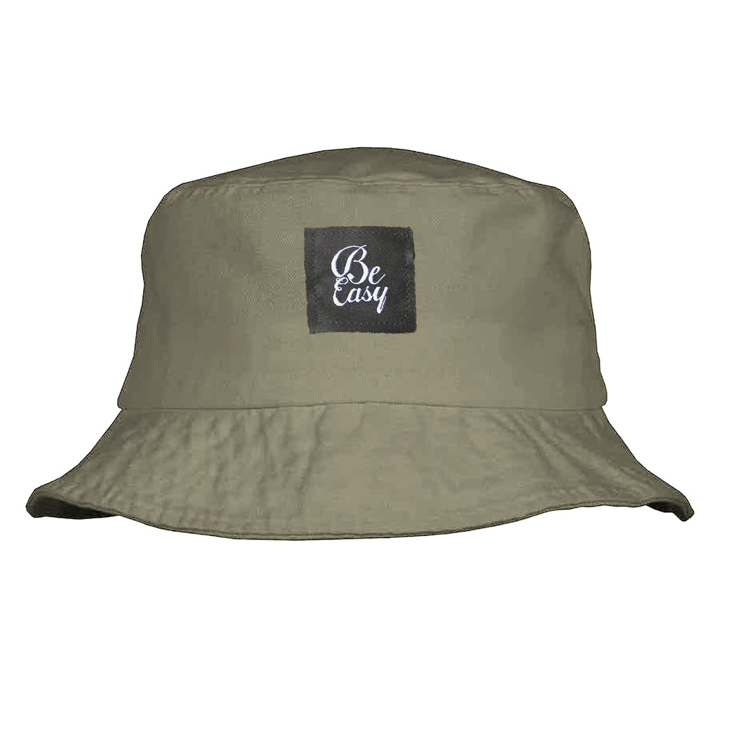 Tan Patch Bucket Hat