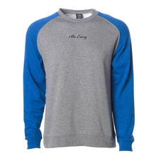 Load image into Gallery viewer, Raglan Crewneck Sweater (blue/heather)