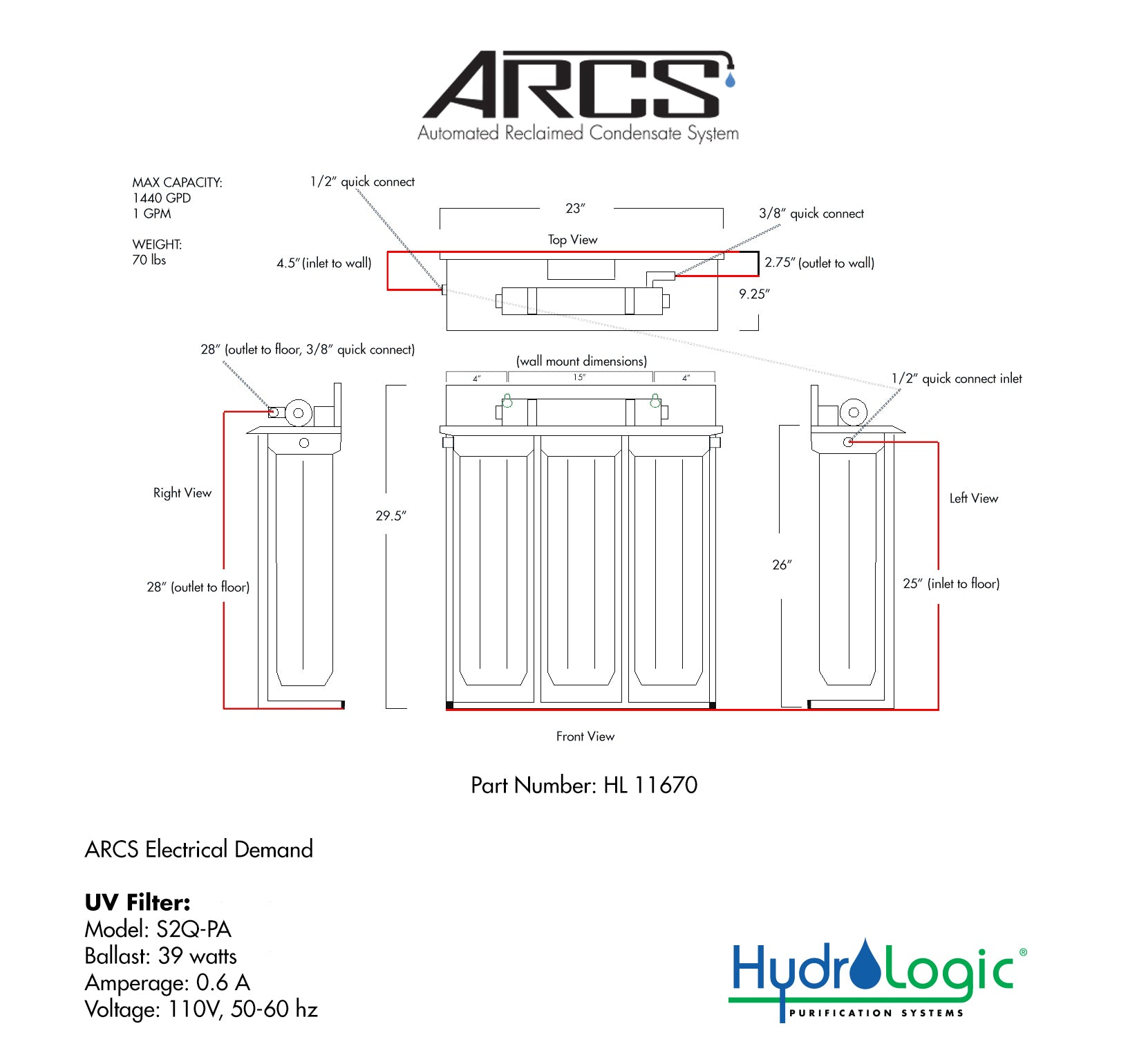 Automated Reclaimed Condensate System (ARCS) Cutsheet