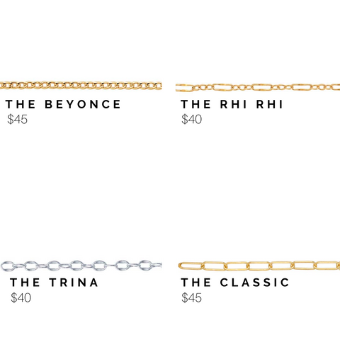 chain and price options